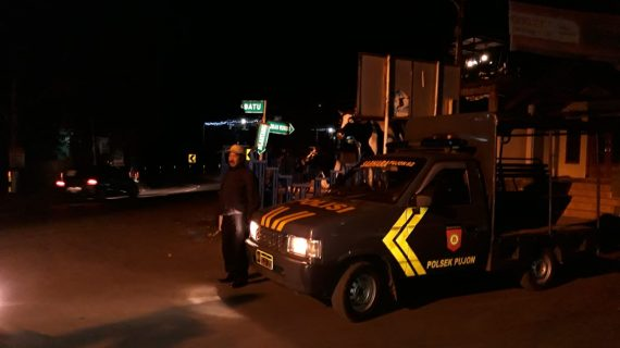 Polsek Pujon Polres Batu Giatkan Patroli Malam Jaga Kamtibmas