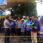 Anggota Bhabinkamtibmas Giat Silaturahmi, Sambang Paguyuban Angkutan Umum Bhabinkamtibmas Polsek Batu Kota Polres Batu Sampaikan Pesan Kamtibmas