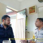 Bripka Hendra melaksanakan Pam Swakarsa Bhabinkamtibmas Desa Oro Oro Ombo Polsek Batu Kota Polres Batu Sambang Satpam Surya Hotel