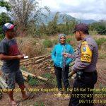 Sambang Penjual Bambu Bhabinkamtibmas Kelurahan Temas Polsek Batu