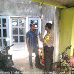Bhabinkamtibmas Kelurahan Songgokerto Polsek Batu Kota Polres BatuKunjungan Kerukunan Tetangga