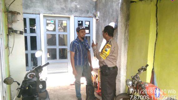 Kunjungan Kerukunan Tetangga Bhabinkamtibmas Kelurahan Songgokerto Polsek Batu
