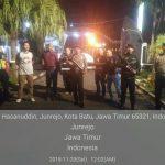 Guna Pengamanan Mako Polres Batu Lakukan Patroli Malam di Mako Polres Batu