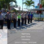 Tingkatkan Kedisiplinan Anggota, Apel Pagi Polsek Ngantang Polres Batu Tepat Waktu di Mako Polsek