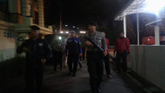 Tingkatkan Pengamanan Mako, Polres Batu Patroli Dalam Mako