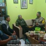 Giat Sambang Kerukunan Warga Oleh Bhabinkamtibmas Kelurahan Songgokerto Polsek Batu Kota Polres Batu Sampaikan Pesan Kamtibmas
