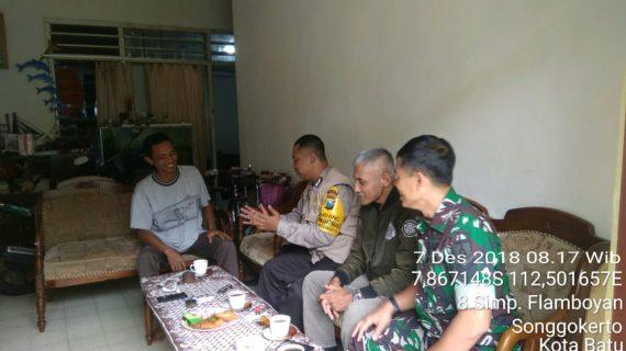 Silaturahmi Tokoh Masyarakat Oleh 3 Pilar Kel Songgokerto Polsek Batu Kota Polres Batu