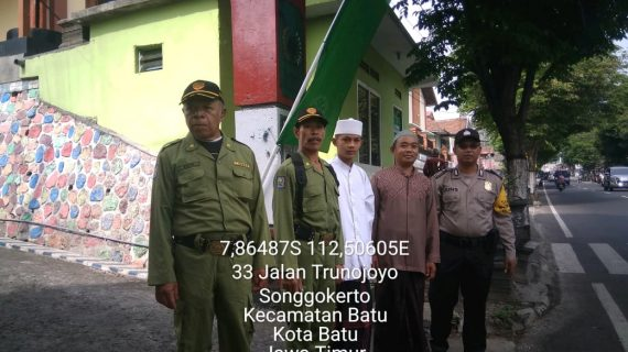 Bhabinkamtibmas Kelurahan Songgokerto Polsek Batu Polres Batu Sambang Dan Pam Pengajian Maulud Nabi
