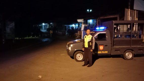 Polsek Pujon Polres Batu Laksanakan Kegiatan Patroli Malam Jaga Kamtibmas