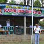 Wakapolres Batu Buka kegiatan kejuaraan sepak bola piala Kapolres Cup  2018