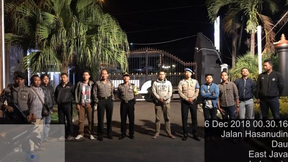 Tingkatkan Pengamanan Mako,  Polres Batu Patroli Mako Menjaga Keamanan