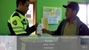 Anggota Bhabinkamtibmas Giat Silaturahmi,Bhabinkamtibmas Polsek Bumiaji Polres Batu Peduli pelayanan SATPAS
