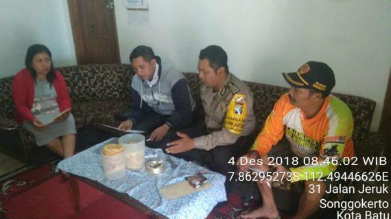 Sambang Kerukunan Warga Bhabinkamtibmas Kel Songgokerto Polsek Batu Polres Batu