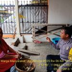Giat DDS dan Tatap Muka, Sambang Warga Masyarakat Bhabinkamtibmas Polsek Batu Kota Sampaikan Pesan Kamtibmas