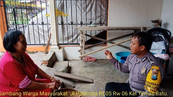Anggota Bhabinkamtibmas Silaturahmi Warga Desa,Sambang Warga Masyarakat Bhabinkamtibmas Polsek Batu Kota Sampaikan Pesan Kamtibmas