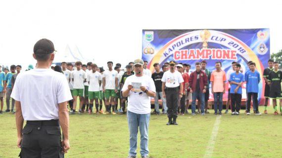 Waka Polres Batu Pimpin Penutupan Pertandingan Sepak Bola Kapolres Cup 2018