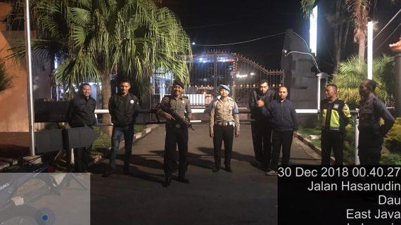 Tingkatkan Pengamanan Mako, Polres Batu Patroli Mako Ciptakan Wilayah Kondusif