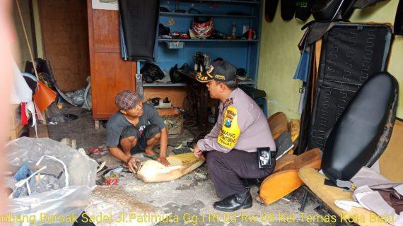 Sambang Tempat Usaha Bursak Sadel Bhabinkamtibmas Kelurahan Temas Polsek Batu Polres Batu
