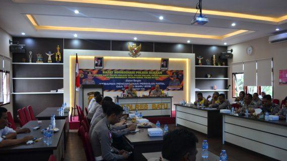 POLRES BATU GELAR RAPAT KOORDINASI POLRES JAJARAN DALAM RANGKA KESIAPAN PENGAMANAN NATAL DAN TAHUN BARU 2019