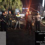 Anggota Polres Batu Melaksanakan Patroli Mako Agar Tetap Terjaga Dengan Aman