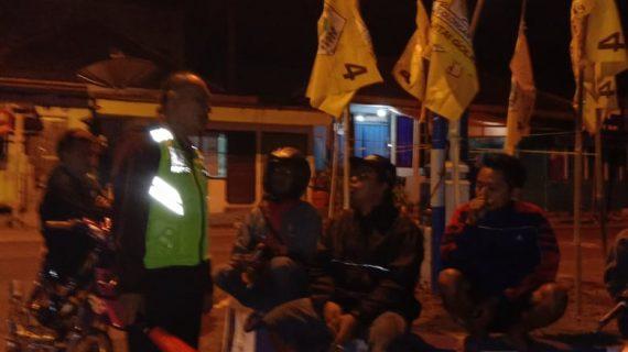 Anggota Polsek Kasembon Polres Batu Melaksanakan Patroli Malam Untuk Menjaga Kamtibmas