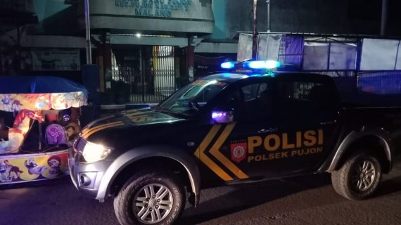Anggota Polsek Pujon Polres Batu Laksanakan Patroli Malam Guna Jaga Kamtibmas