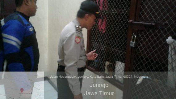 Wujud Giat Pengamanan Mako, Polres Batu Melaksanakan Kontrol Tahanan