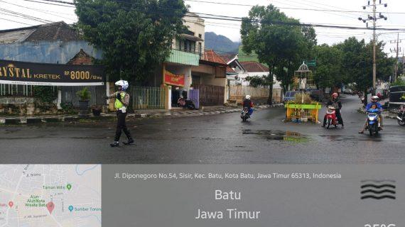 Salah Satu Bentuk Pelayanan Prima Kepolisian, Satlantas Polres Batu Laksanakan Poros Pagi