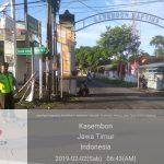 Kunjungan Dan Sambang Perhotelan Bhabin Desa Sidomulyo Polsek Batu Kota Sampaikan Pesan Kamtibmsdalam rangka kondusifkan wilayah