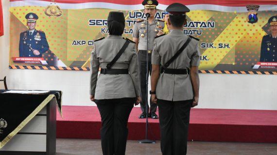 Kapolres Batu AKBP Budi Hermanto, SIK, MSi Pimpin Sertijab Kasat Lantas di Rupatama
