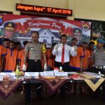 Polres Batu Melaksanakan Press Release Hasil Ops Tumpas Narkoba
