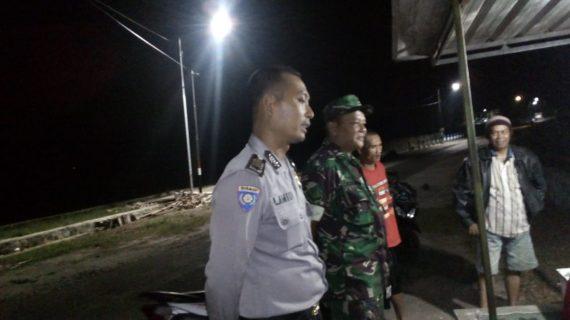 Patroli Malam Jaga Kamtibmas digiatkan oleh Polsek Kasembon Polres Batu