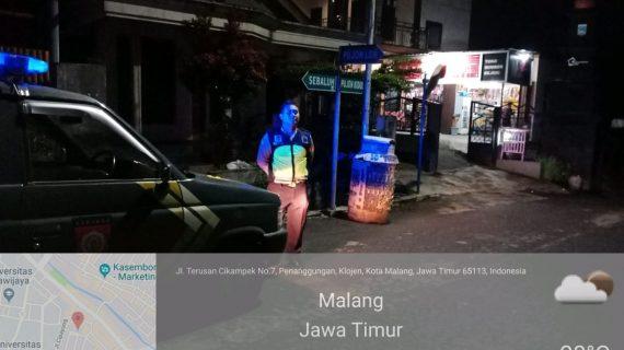 Patroli Malam Jaga Kamtibmas digiatkan oleh Polsek Pujon Polres Batu