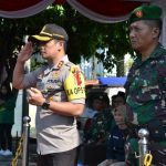 Kapolres Batu Pimpin Apel Gelar Pasukan dalam rangka pengamanan Pemilu Serentak Tahun 2019