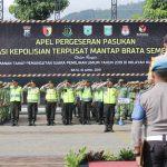 Gelar apel pergeseran pasukan PAM TPS , Polres Batu All Out amankan Pemilu 2019
