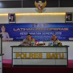 Kapolres Batu Pimpin Latpraops Keselamatan Semeru 2019