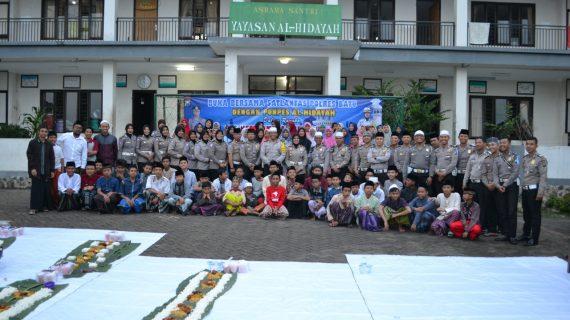 Ops Keselamatan Semeru 2019, Satlantas Polres Batu Bukber Bersama Anak Yatim Piatu