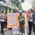 Sat sabhara Polres Batu Giatkan Patroli Ketempat jasa penukaran uang dipinggir jalan Jaga Kamtibmas