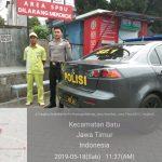Sat sabhara Polres Batu Giatkan Patroli Ketempat SPBU lahor  Jaga Kamtibmas