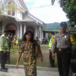 Polsek Ngantang Polres Batu Laksanakan Pengamanan Lokasi Tempat Ibadah