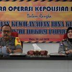 Tingkatkan Situasi Kamtibmas Yang Kondusif, Polres Batu Gelar Latihan Pra Operasi Bina Kusuma Semeru 2019