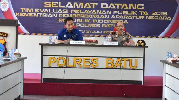 Tim Kemenpan RI kunjungi Polres Batu untuk meninjau kesiapan meraih predikat WBBM