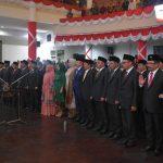Kapolres Batu bersama Dandim dan Forkompimda , hadiri pelantikan anggota DPRD Kota Batu periode 2019 – 2024