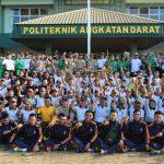 Bawa tiga tumpeng ukuran besar, Kapolres Batu berbagi kebahagiaan dengan anggota TNI dalam rangka peringati HUT TNI ke 74