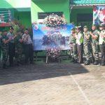 Peringati HUT TNI ke – 74, Kapolsek Bumiaji Polres Batu Sambang Ke Koramil Bumiaji