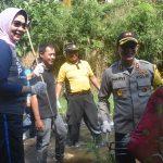 Peringati acara bersih – bersih sungai yang ke 100 kali bersama Komunitas Sabers Pungli, Kapolres Batu nyemplung kali didampingi Walikota dan Muspika Kecamatan Bumiaji.