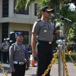 Kapolres Batu Pimpin Apel Gelar Pasukan Operasi Zebra Semeru 2019 diLapangan Mapolres Batu
