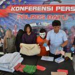 Ungkap Kasus Prostitusi, Kasat Reskrim Polres Batu Gelar Pers Release