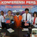 Ungkap Kasus Pelecehan Anak Dibawah Umur, Kapolres Batu Laksanakan Pers Release
