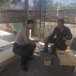 Anggota Bhabinkamtibmas Kelurahan Ngaglik Polsek Batu sambang kepada warga desa binaan untuk berikan penyuluhan